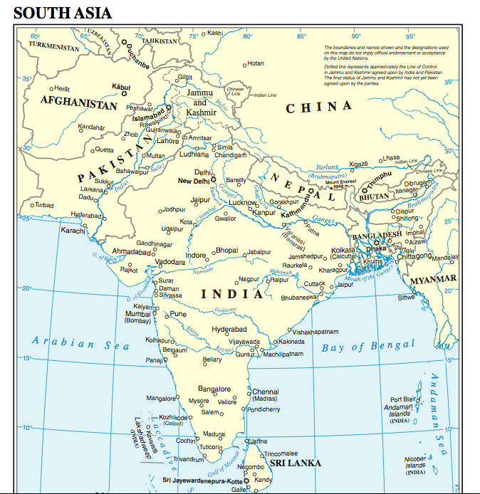 india map with hindu kush mountains wwwpixsharkcom